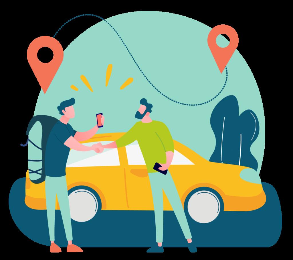 Transfert randonneurs illustration